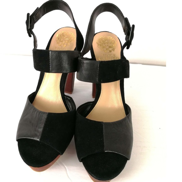 abc2dd654d7 Vince Camuto Black Sandals Black Suede Leather